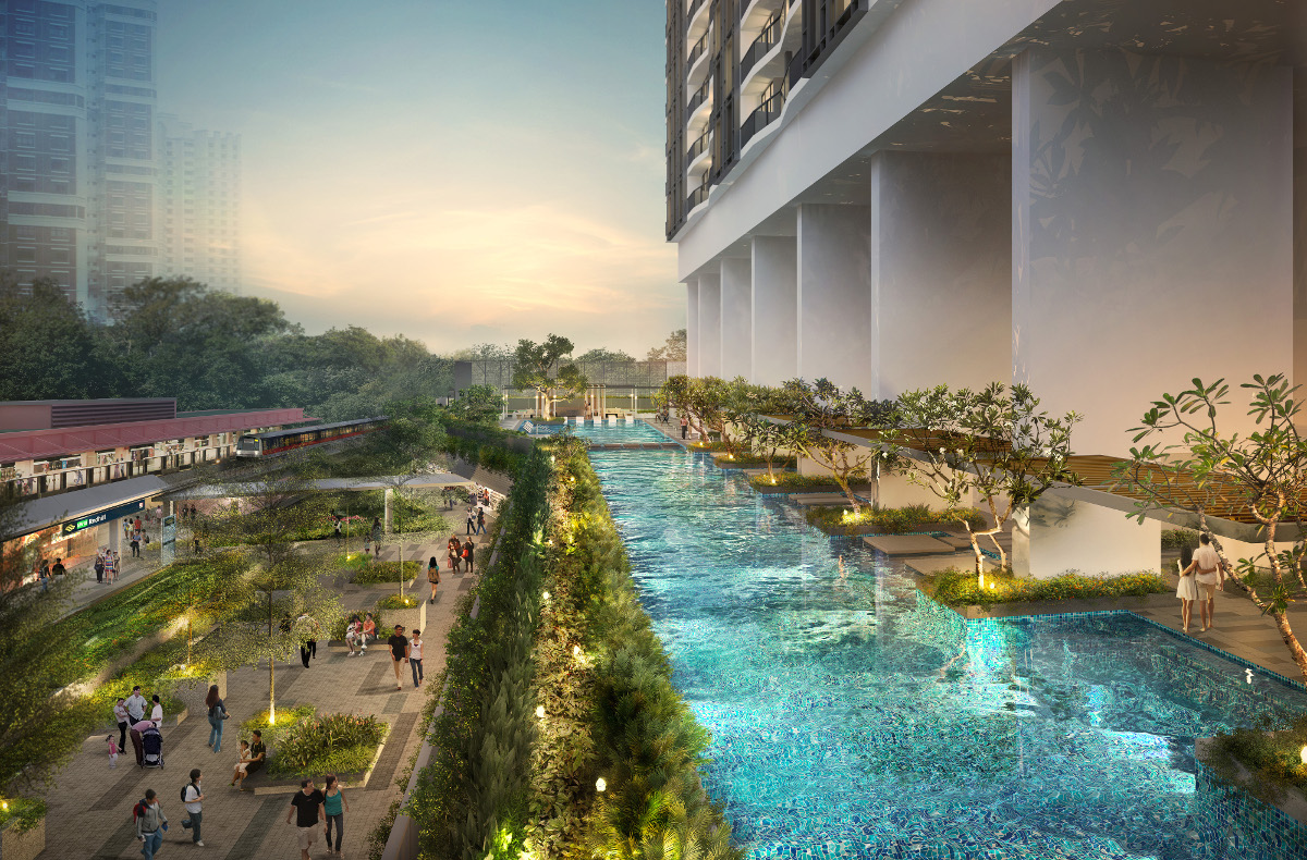 The Artra Singapore :: View of Pool in Evening